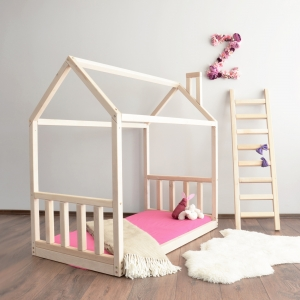 House Bed Frame with Rails