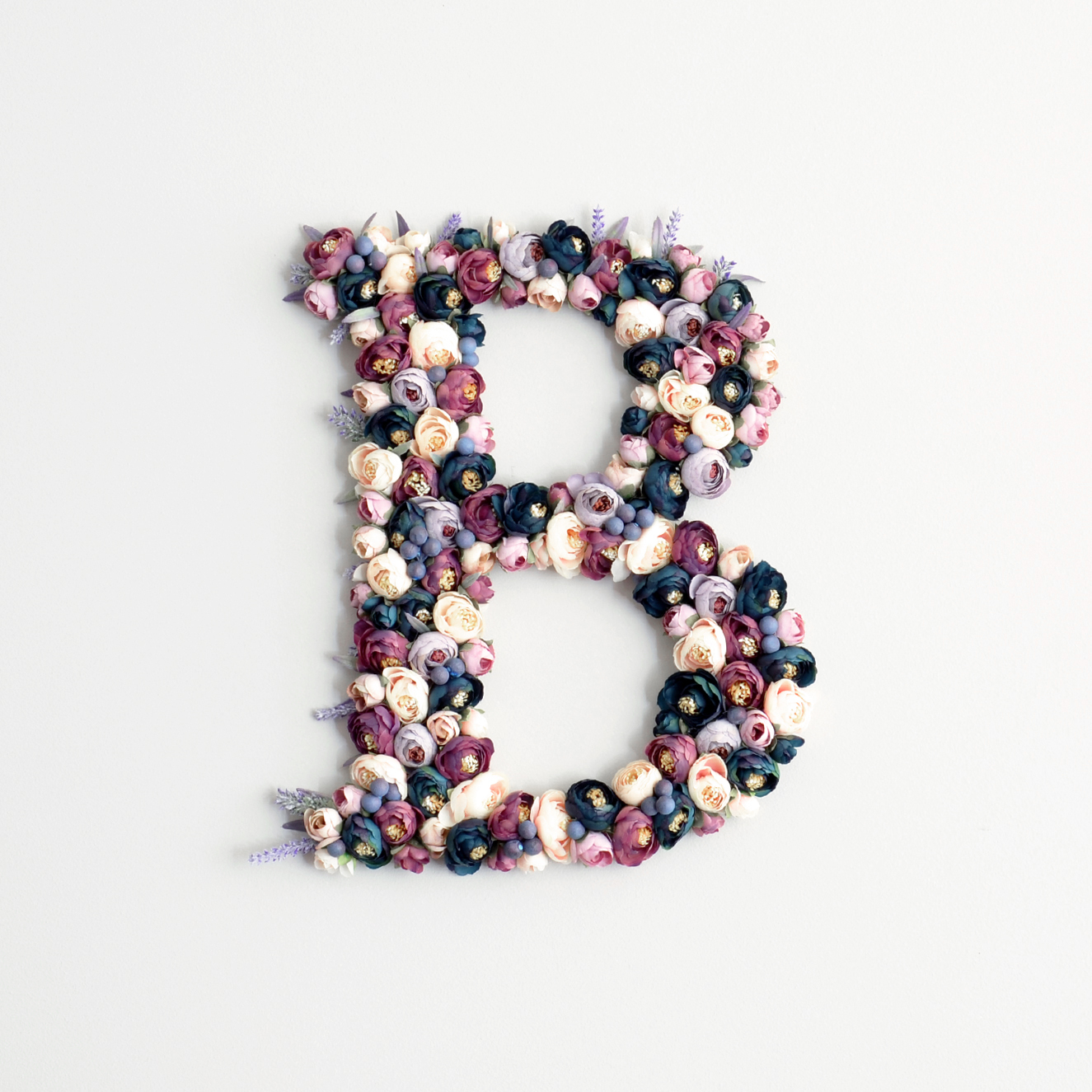Purple Flower Letter Decor