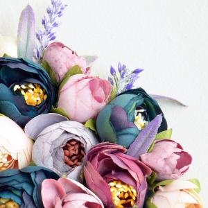 Purple Flower Letter Decor