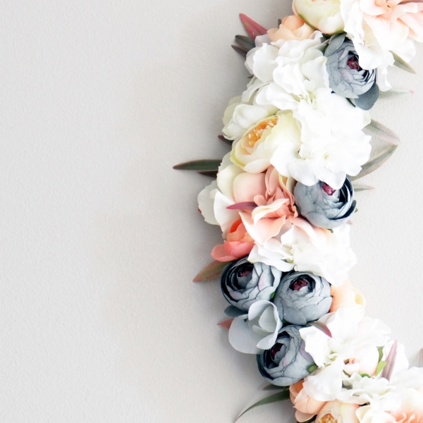 Baby pink floral letter