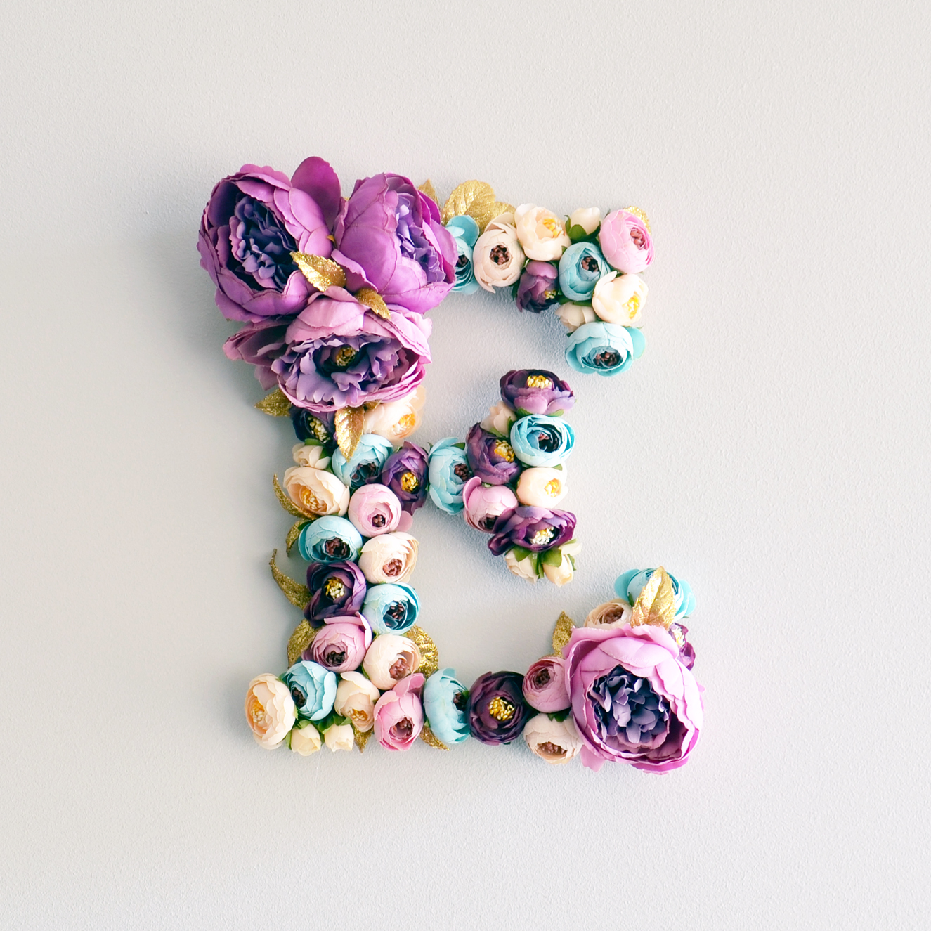 flower letter wall art