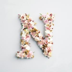 Golden Floral Wall Letter
