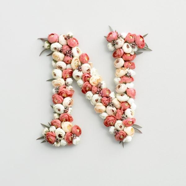 boho floral letter