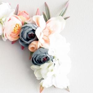 Baby pink floral letter