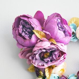 flower letter wall art