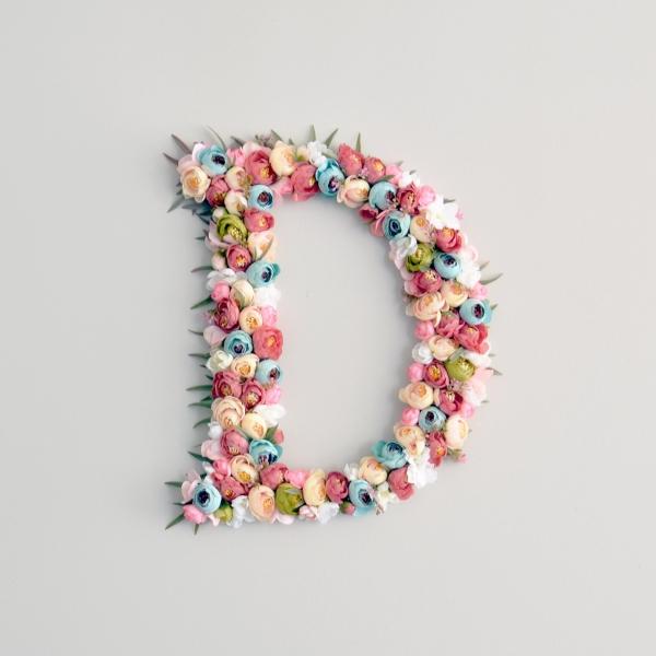 Boho flower letter