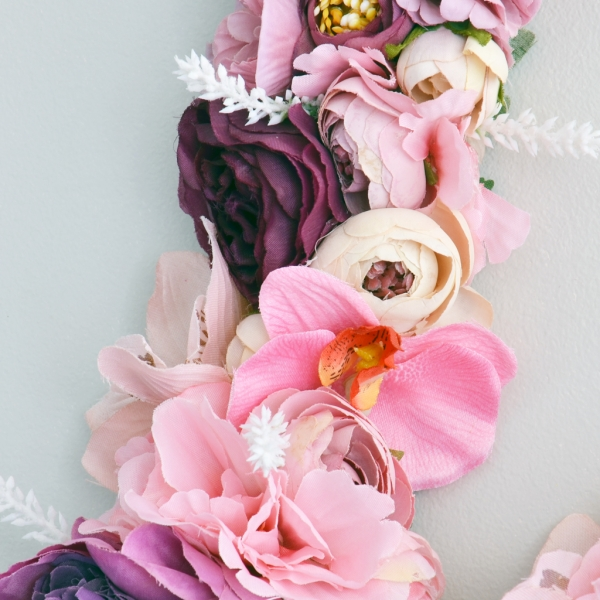 Bright pink floral decor