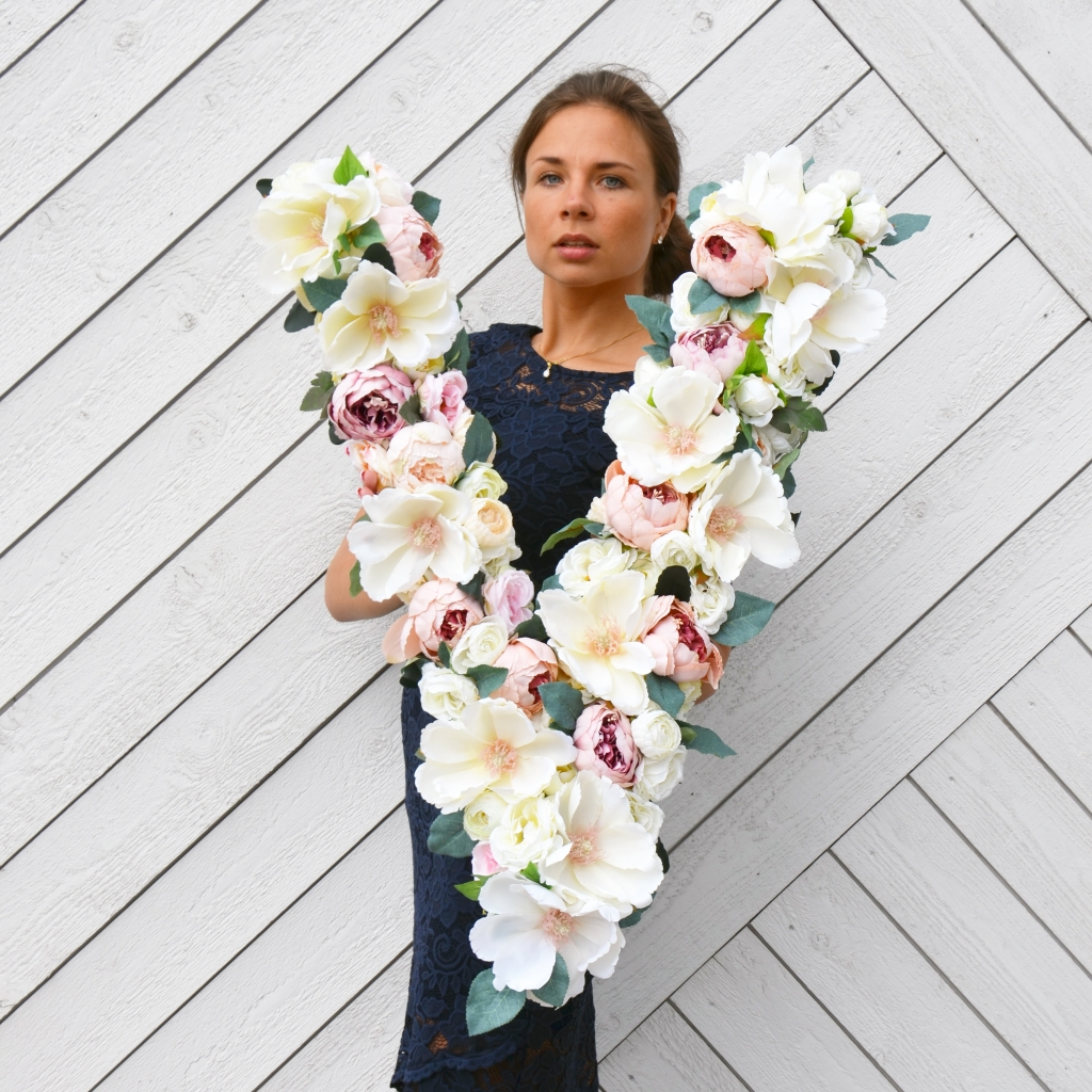 Extra large floral letter